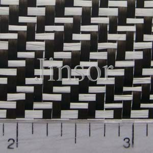 Jinsor-Tech carbon colored fiberglass hybrid fabric detail